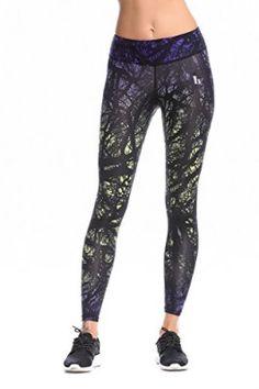 Jimmy Design Women's Pro Tech Compression Leggings Pro-Royal Blue/Ghost Green Medium