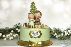 Double birthday and Christmas tree by Lorna