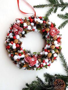 Boże Narodzenie - wianki-Wianek SWEETS OF DECEMBER 40 cm by ArtMoss