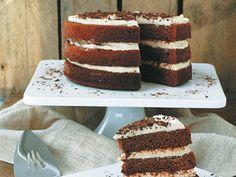"""Chocolate Zucchini Cake with Vanilla Spiced Cream"" from Cookstr.com #cookstr"