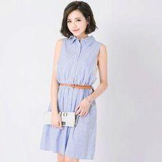 YesStyle - Tokyo Fashion Sleeveless Striped Dress - AdoreWe.com