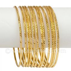 Zaree Gold Bangles