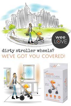 Dirty stroller wheel
