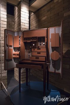 Hermes Home Collections Set Inside Raw Brick Pavilion in Milan.