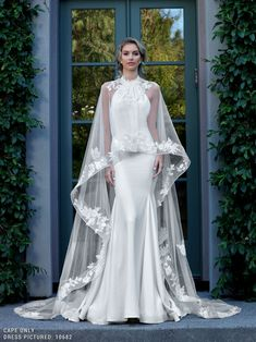 Gorgeous Halter Trumpet Wedding Dress / Bridal Gown with Long Chiffon Train by Ashley & Justin dresses halter trumpet Ashley & Justin 10727 Beautiful Wedding Gowns, Luxury Wedding Dress, Designer Wedding Dresses, Wedding Attire, Beautiful Dresses, Gorgeous Dress, Western Wedding Dresses, Bridal Dresses, Wedding Dress Gallery