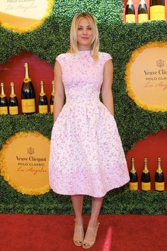 Kaley Cuoco in Basler at the Veuve Clicquot Polo Classic in L.A. [Photo by Katie Jones]