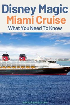 Complete guide to a Disney Cruise from Miami on the Disney Magic. All the Disney Cruise Tips and Secrets from staterooms, to dining, entertainment to how to save money. Get the ultimate guide to a Disney Cruise out of Miami