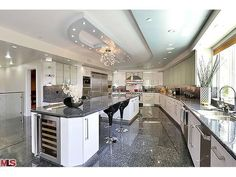 The Enormous Chef's Kitchen is All Stainless Steel Viking Appliances - 14721 Round Valley Drive , Sherman Oaks , CA 91403 #VikinginCA