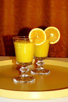 Koktajl z mango, pomarańczą i bananem Owocowy deser w 5 minut!