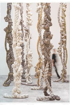 gorgeous ropey knotty sculptural things by Dana Barnes Studio Brilliant sensory stuff - wouldn't matter if they got paint on either Art Actuel, Instalation Art, Rope Art, Soft Sculpture, Fabric Art, Textile Art, Fiber Art, Street Art, Street Style