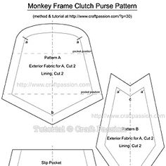 monkey coin purse free sewing pattern