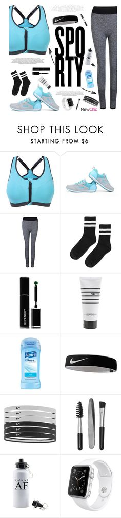 """Lovenewchic #9"" by katarinamm ❤ liked on Polyvore featuring Topshop, Givenchy, Pirette, NIKE, Sephora Collection and Apple"