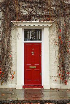 Rote Tür / Red Door + Herbst / Autumn / Fall