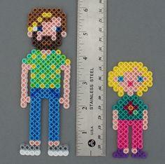 Custom Made Perler Bead Family Magnet set to look by HarmonArt2