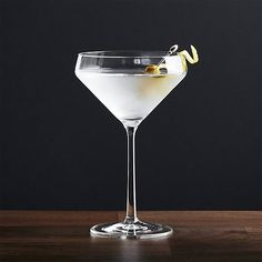 A new angle in barware from Schott Zwiesel creates an edgy silhouette with exquisite brilliance and clarity. Made of break-, chip- and scratch-resistant Tritan glass, each coupe-shaped martini glass exhibits the same exquisite brilliance and clarity as hand-blown crystal.