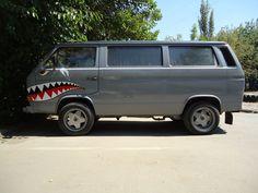 Nose Art Shark Smouth VW T3