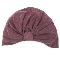Full Head Turban- Burgundy Sil. Wonder if I could pull off a turban...hmmm
