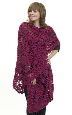 *Free Crochet Pattern:  Spider Stitch Wrap by Renee Rodgers