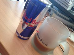 Coffee & Red Bull keep me going..