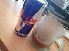 Coffee & Red Bull keep me going..
