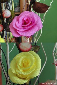 розы из гофрированной бумаги. мастер-класс (38) (466x699, 243Kb)