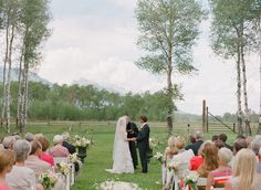 Snake River Ranch wedding near Jackson Hole, Wyoming.  Photo by Carrie Patterson.