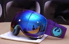 Dragon Apx Crevasse/Blue Steel Ionized Snowboard/Ski Goggles
