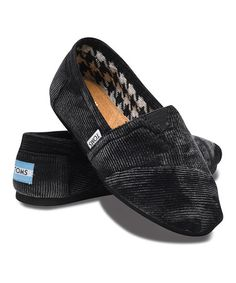 Take a look at this Black Stonewash Corduroy Vegan Classics - Women by TOMS on #zulily today! $34.99, regular 54.00