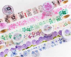 HOSHIZORA washi tapes 2 cm x 8 m por lumlumbear en Etsy