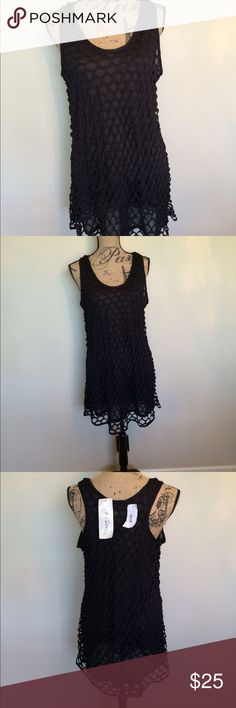 J Valdi Black sheer lined coverup NWT 😊NWT 🎉Request additional photos measurement questions 🎉Ships next business day unless noted in my closet🎉Bundle for discount🎉No trades or other Aps J Valdi Swim Coverups