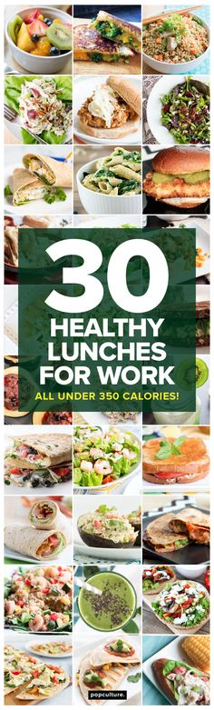 30 days of healthy lunches for you to take to work — all under 350 calories! Popculture.com #easylunches #adultlunchbox #healthyeating #lunchideas #lunchrecipes #worklunch #healthyliving #lunch #lowcalorielunch #weightwatchers