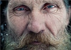 Face of a Russian hermit