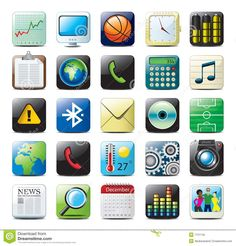 Illustration about Beautiful multimedia icon set for mobile phones and websites , include vector format. Illustration of locate, icons, message - 7731145 Unique Apps, Iphone Icon, Google Material Design, Vector Format, Icon Set, Multimedia, Icon Design, Royalty Free Stock Photos, Clip Art