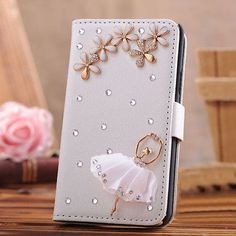 3D crystal Luxury Flip Leather Wallet Case Cover for Sony Xperia sp M35h C5303