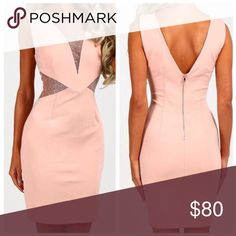 💕 NWT 💕 GLITZY PINK DRESS 💕 Pale pink/ nude color. Never worn. Brand new. Size small. 💕 Dresses Mini