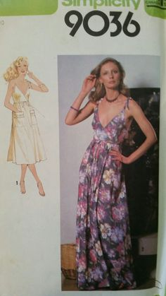 """1970s simplicity sun dress with pockets and spaghetti straps, reminds me of """"Boogie Nights"""", 1990s movie"""