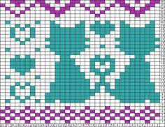 Tricksy Knitter Charts: love cats copy (83603) (83642) (83683) by Ute Kühne: