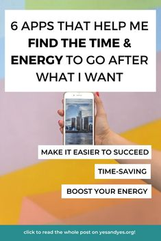 Looking for goal-setting tips or productivity advice? Motivational advice or tips to boost your energy? Read on for 6 time management apps that help me find more time and energy! Time Management Apps, Go After, Productivity Apps, You Better Work, What I Want, Self Care Routine, Mindful Living, Life Advice, Self Development