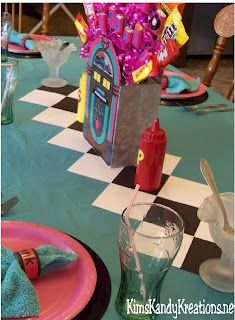 Kims Kandy Kreations: 50s Sock Hop Diner Tablescape