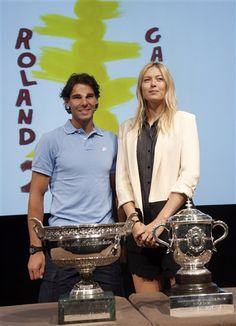 Rafael Nadal and Maria Sharapova at the 2013 French Open draw #tennis #RG13