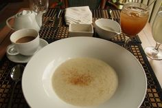 Kalinago Cassava Porridge, a staple breakfast of the Caribbean's namesake people, served with style at Rosalie Bay Resort, Dominica.
