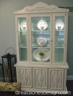 painted antique china cabinet | Vintage French Country China ...