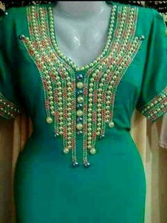 Hand Embroidery Dress, Beaded Embroidery, Abaya Fashion, Fashion Dresses, Ankle Bracelets, Kaftan, African Fashion, Couture, Gowns