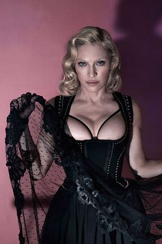 Madonna Bares Her Topless Torso for 'Interview' Mag Spread!: Photo Madonna lets her boobs hang out of her top in this racy new photo from her Interview magazine cover shoot for the December 2015 issue, on newsstands… Madona, Madonna Pictures, Alas Marcus Piggott, Lady Madonna, Alexandre Vauthier, Agent Provocateur, Female Singers, Classic Hollywood, Edgy Outfits