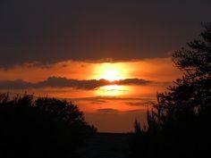 sun rise in my back yard