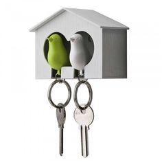 """Este lindo portallaves es ideal para adornar y cuidar las llaves del """"nidito de amor"""" de toda pareja!"""