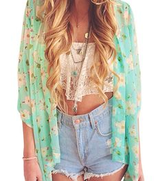 Find More Blouses & Shirts Information about Super Deal Women's Kimonos Green Flower Print,High Quality flower print,China flower print wallpaper Suppliers, Cheap flower print dress from Lolo Moda on Aliexpress.com