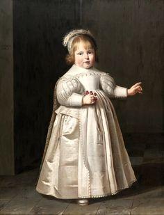 1634  Jan Cornelisz van Loenen (Dutch artist, 1590-1630) Portrait of Willem van der Muelen, Age 3
