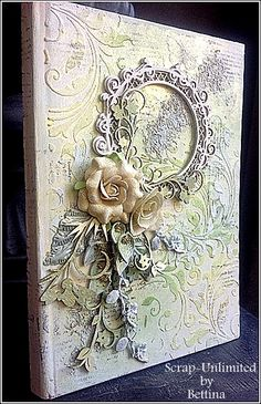 Scrap-Unlimited: Mixed media notitieboekje More Mixed Media Cards, Mixed Media Journal, Mixed Media Artwork, Mixed Media Collage, Altered Canvas, Altered Art, Mixed Media Scrapbooking, Mixed Media Tutorials, Card Tags