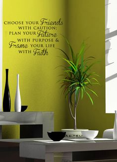 Items similar to Friends Future Faith Vinyl Wall Art Decal on Etsy Vinyl Wall Quotes, Vinyl Wall Decals, Wall Stickers, Wall Sayings, Wall Art Designs, Wall Design, Bedroom Designs, Tree Wall Art, Hotel Interiors